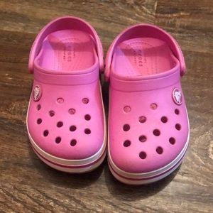 Toddler crocs, size 8